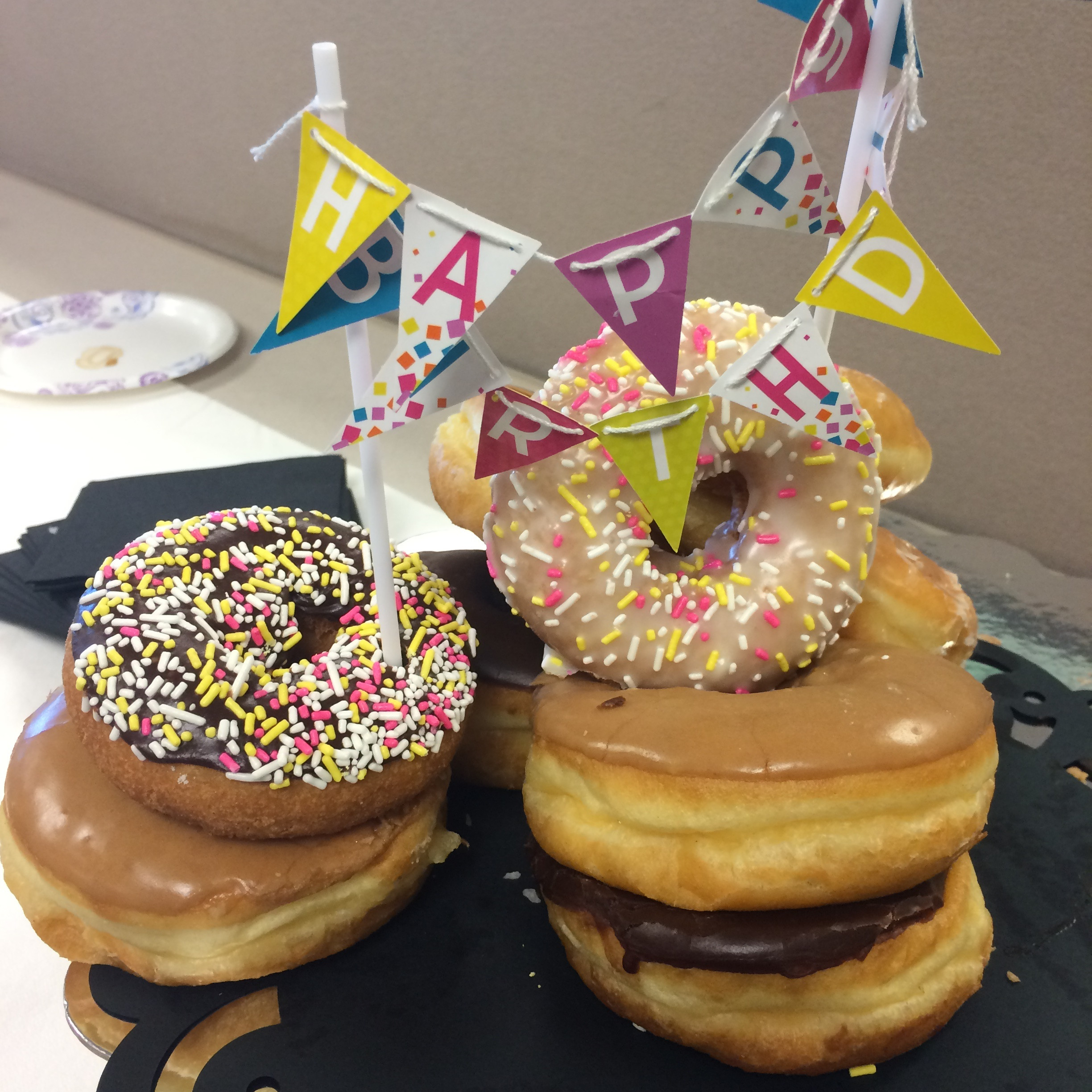 Donut Birthday Cake  Donut Birthday Cakes Are The Best Counting Candles