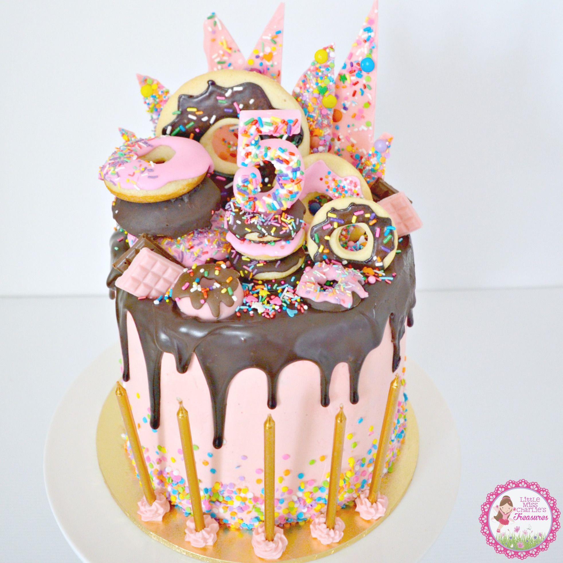 Donut Birthday Cake  littlemisscharlieblog Cake Deco