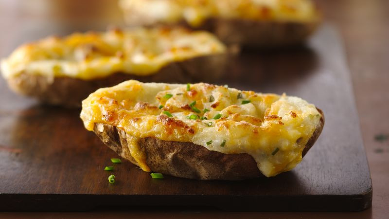 Double Baked Potato  Twice Baked Potatoes Recipe BettyCrocker