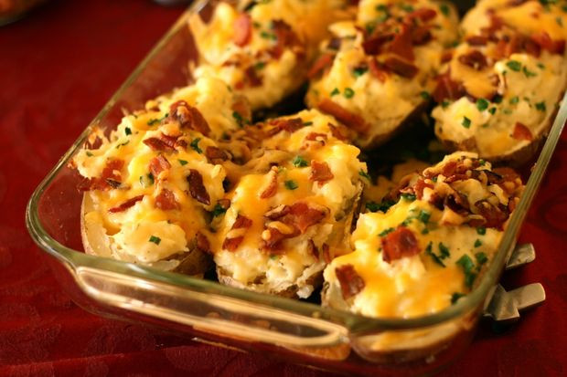 Double Baked Potato  Twice Baked Potatoes