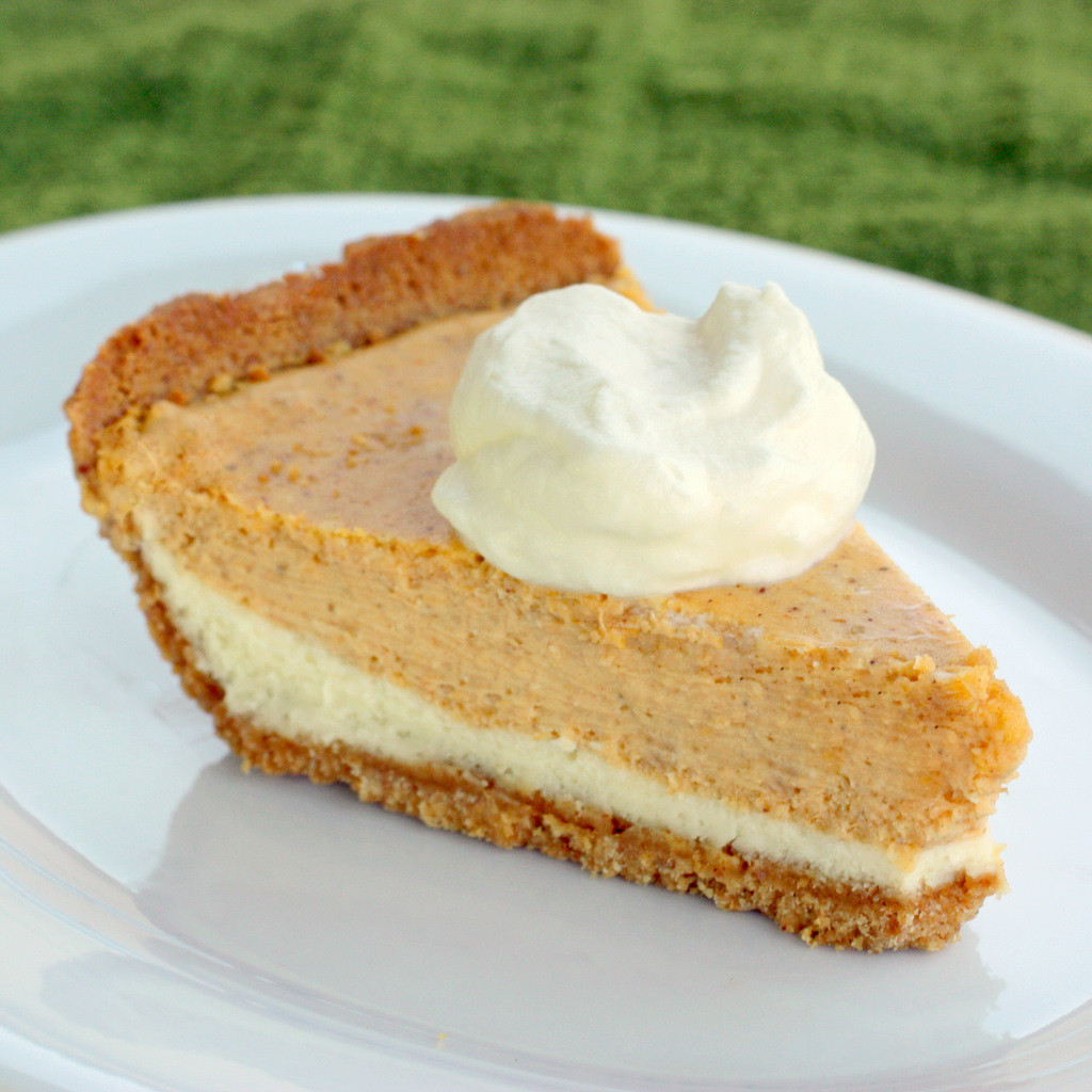 Double Layer Pumpkin Pie  Double Layer Pumpkin Cheesecake The Girl Who Ate Everything