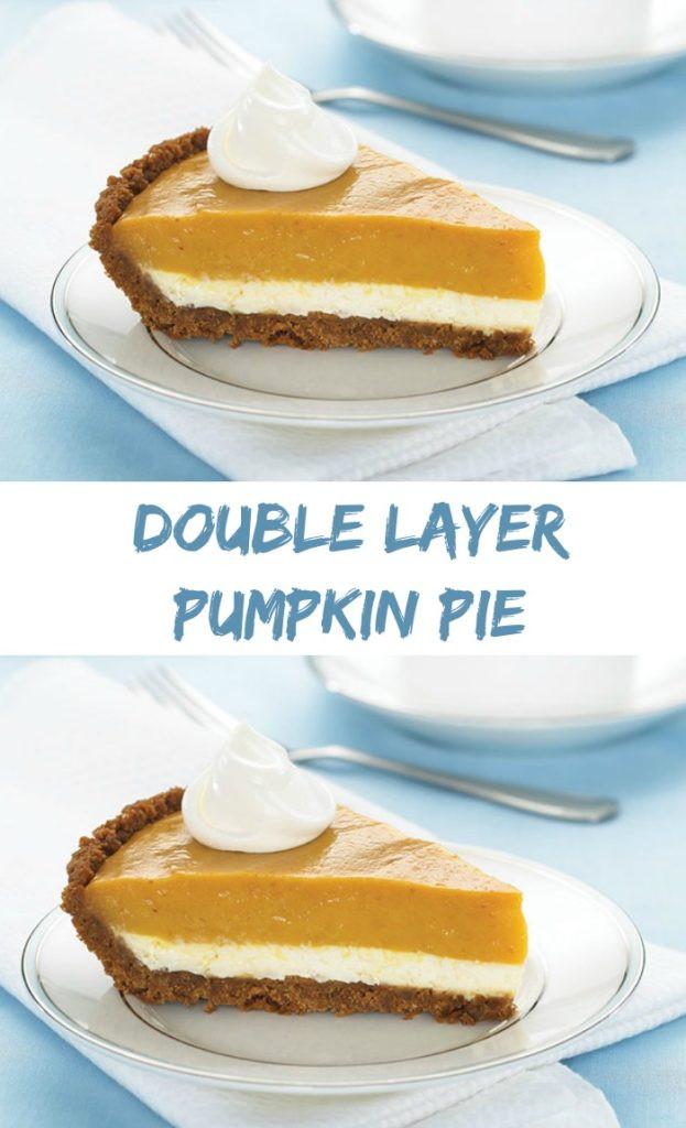 Double Layer Pumpkin Pie  Double Layer Pumpkin Pie My Honeys Place