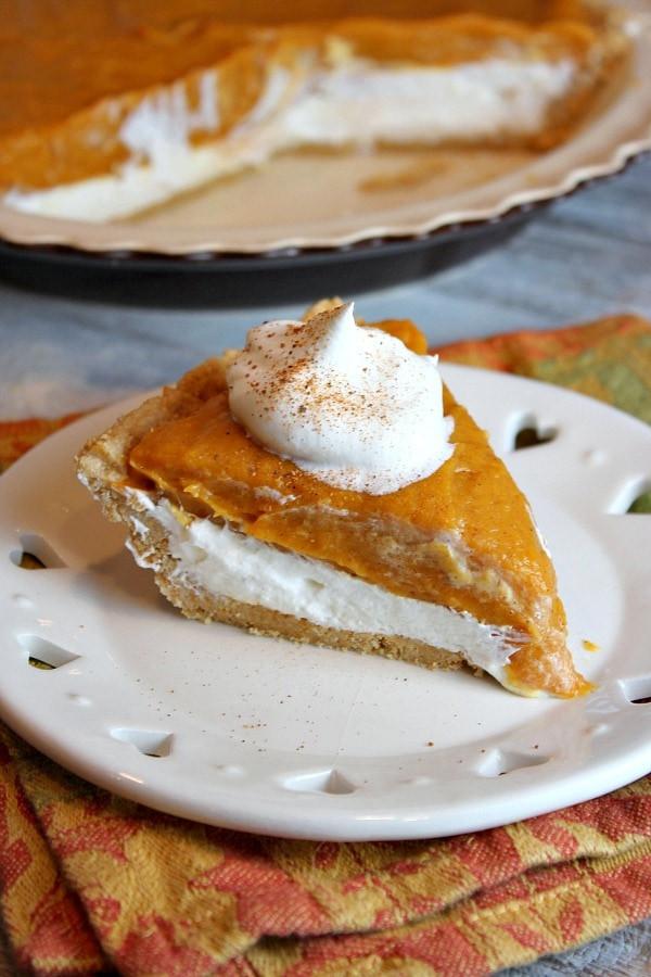 Double Layer Pumpkin Pie  No Bake Double Layer Pumpkin Pie