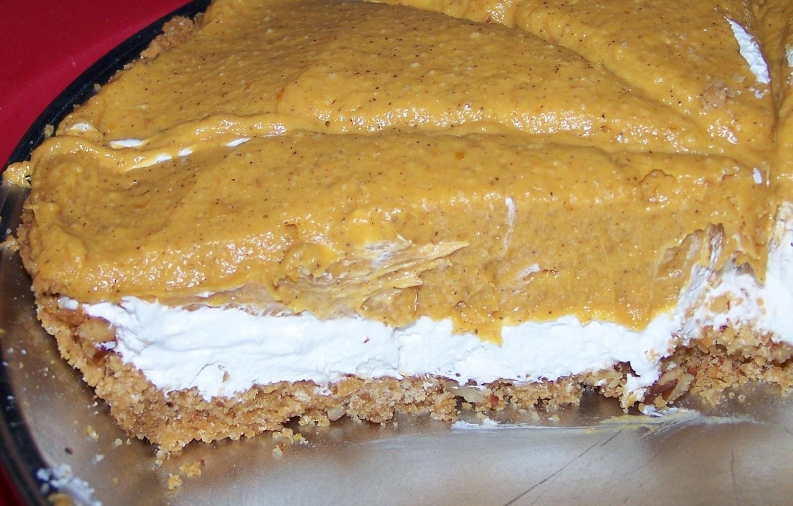 Double Layer Pumpkin Pie  Baking Ribbons Pumpkin Mousse Double Layer No Bake Pie