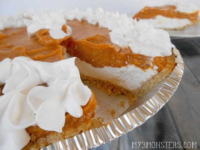 Double Layer Pumpkin Pie  My 3 Monsters Double Layer Pumpkin Pie