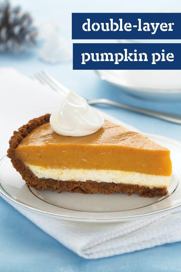 Double Layer Pumpkin Pie  25 bästa Double layer pumpkin pie idéerna på Pinterest