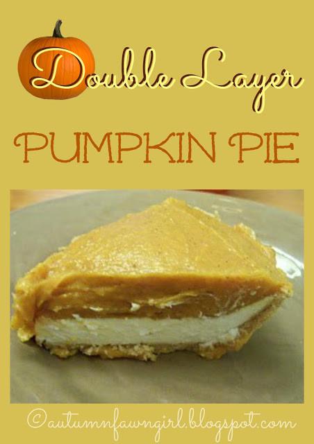 Double Layer Pumpkin Pie  Brandi Raae Double Layer Pumpkin Pie