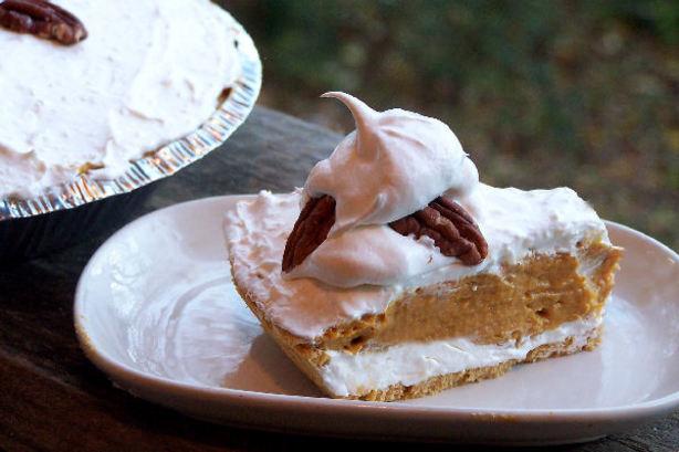 Double Layer Pumpkin Pie  Double Layer Pumpkin Pie Recipe Food
