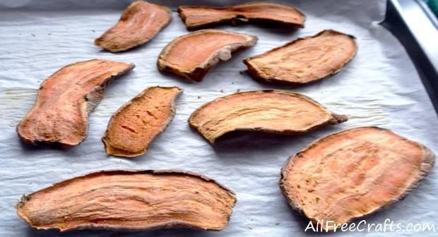 Dried Sweet Potato  Dried Sweet Potato Dog Treats Oven and Dehydrator Methods