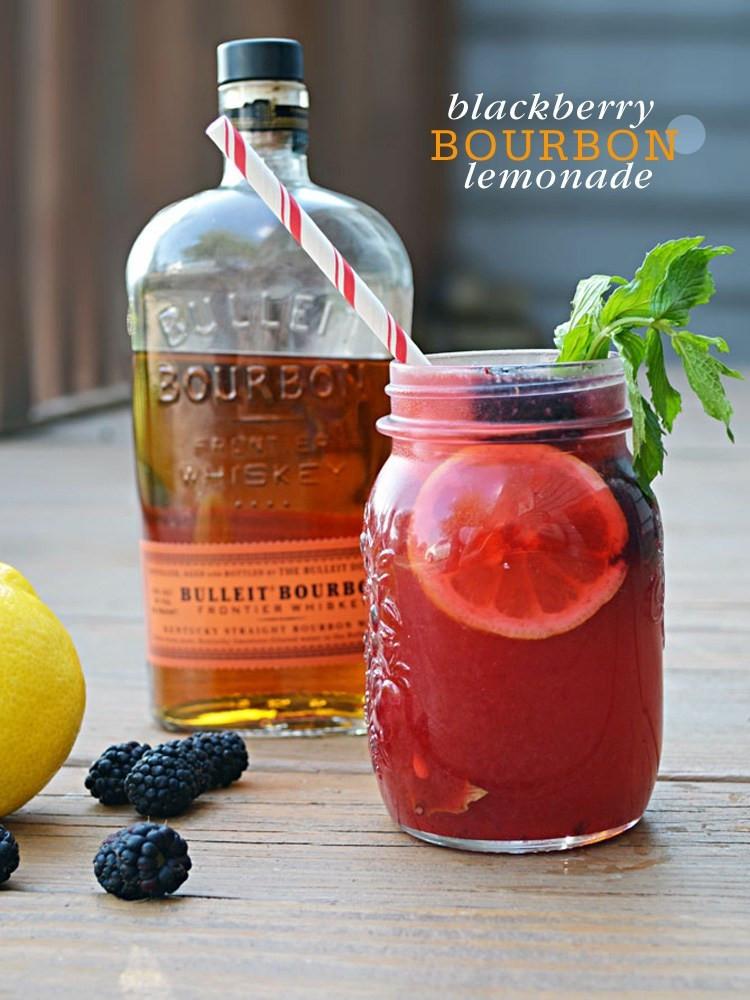 Drinks Made With Bourbon  Cocktail Friday Blackberry Bourbon Lemonade