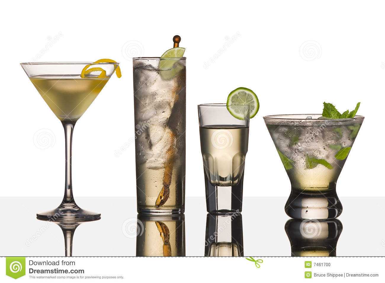 Drinks Made With Vodka  Vodka drinks stock photo Image of isolated four martini