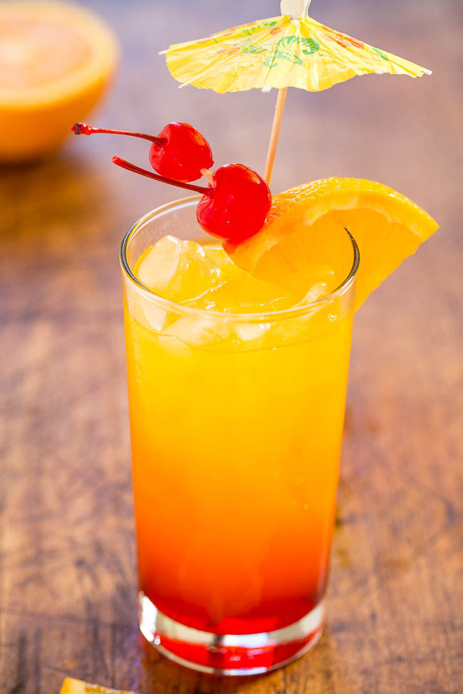Drinks With Tequila  Tequila Sunrise Classic Cocktail