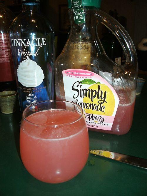 Drinks With Whipped Cream Vodka  Pinnacle whipped & raspberry lemonade DELISH