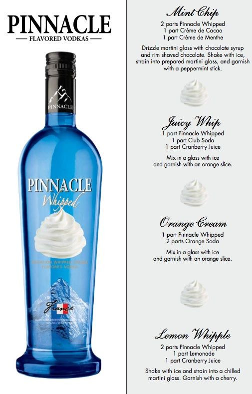 Drinks With Whipped Cream Vodka  Pinnacle Whipped recipes heh Patty & Laura