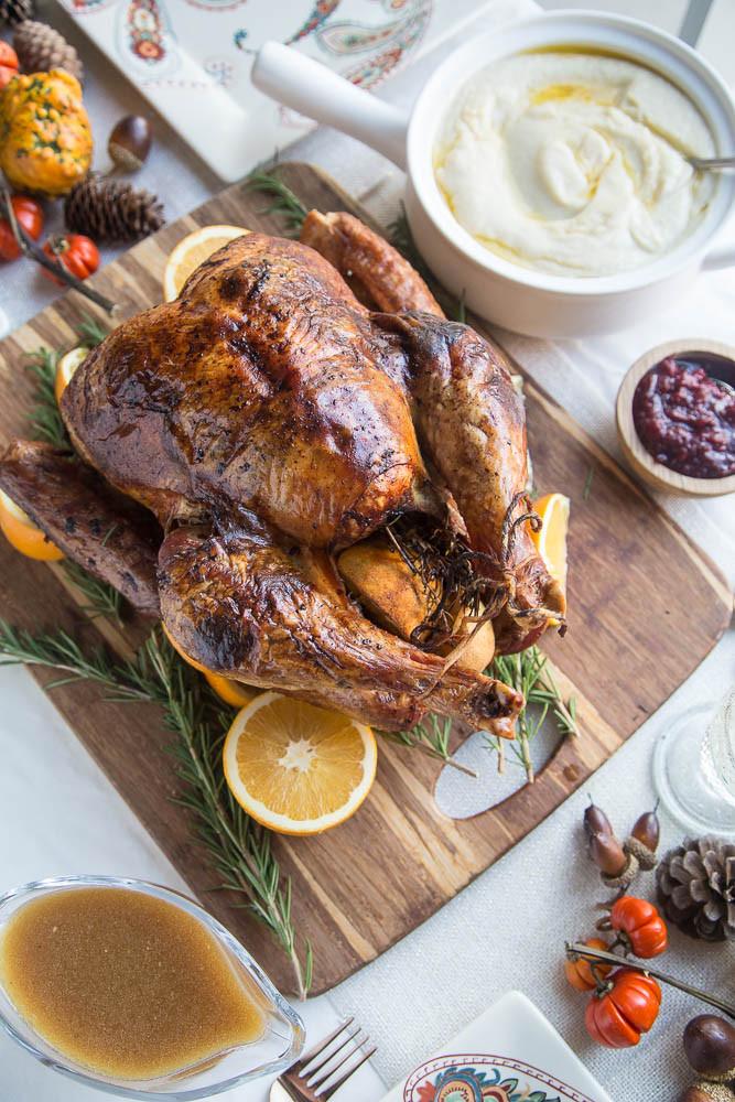 Dry Brine Turkey Recipe  Dry Brine Turkey with Orange Rosemary Herb Butter Perry