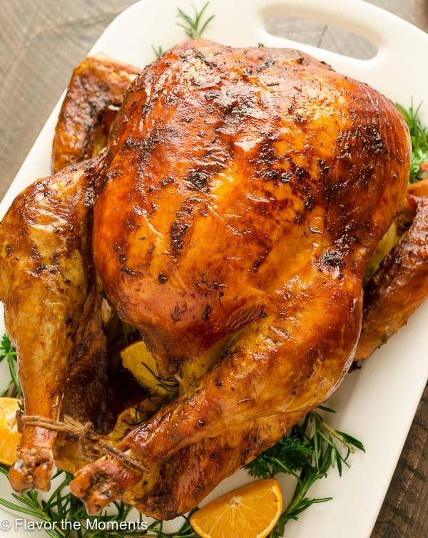 Dry Brine Turkey Recipe  Dry Brined Orange Rosemary Roasted Turkey Flavor the Moments