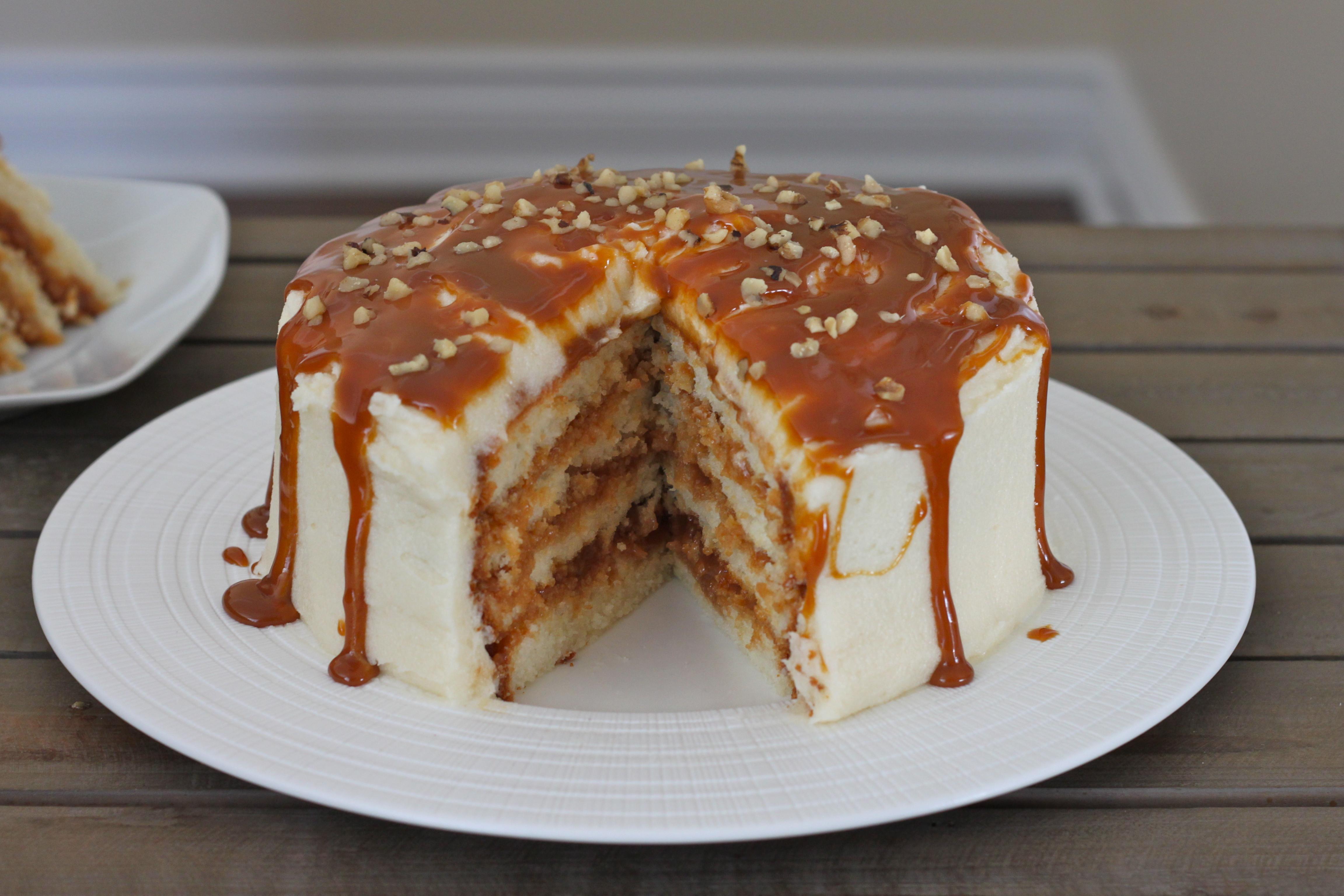 Dulce De Leche Desserts  Dulce de Leche Vanilla Cake – I Adore Food