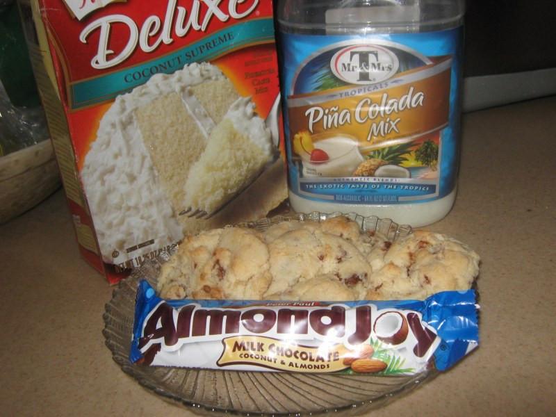 Duncan Hines Cake Mix Cookies  Almond Joy Cake Mix Cookies