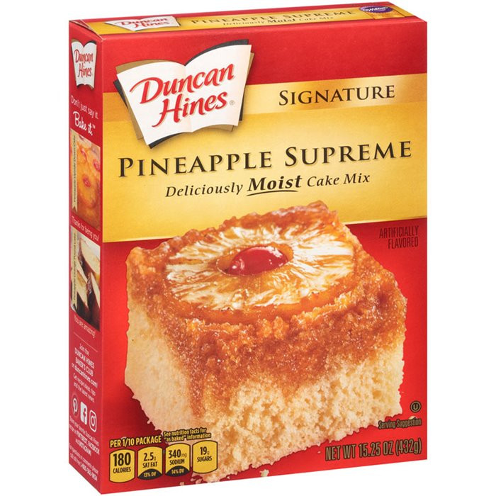 Duncan Hines Pineapple Upside Down Cake Recipe  My Brands Duncan Hines Signature Pineapple Supreme Cake
