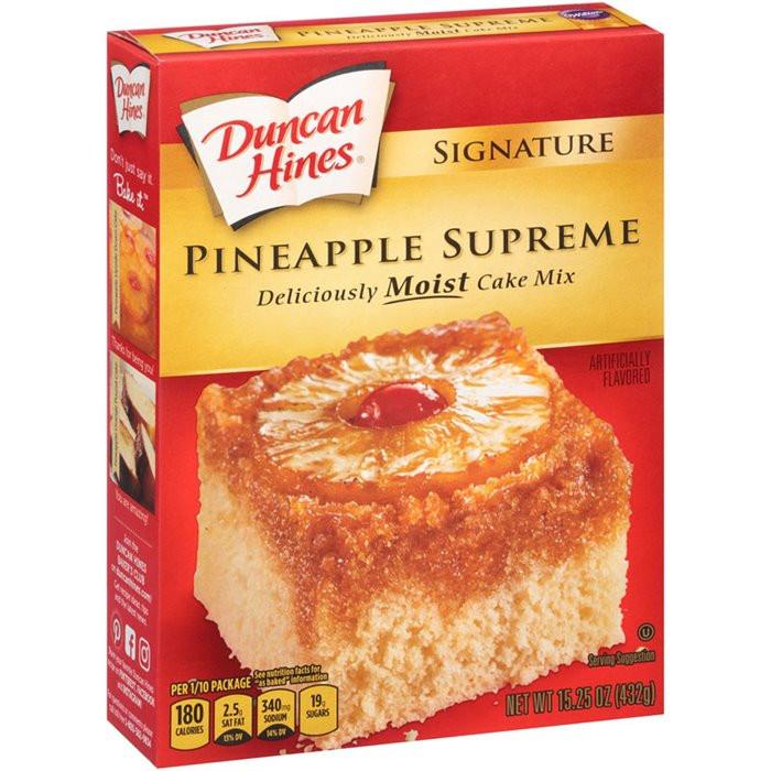 Duncan Hines Pineapple Upside Down Cake Recipe  My Brands Duncan Hines Signature Pineapple Supreme Cake