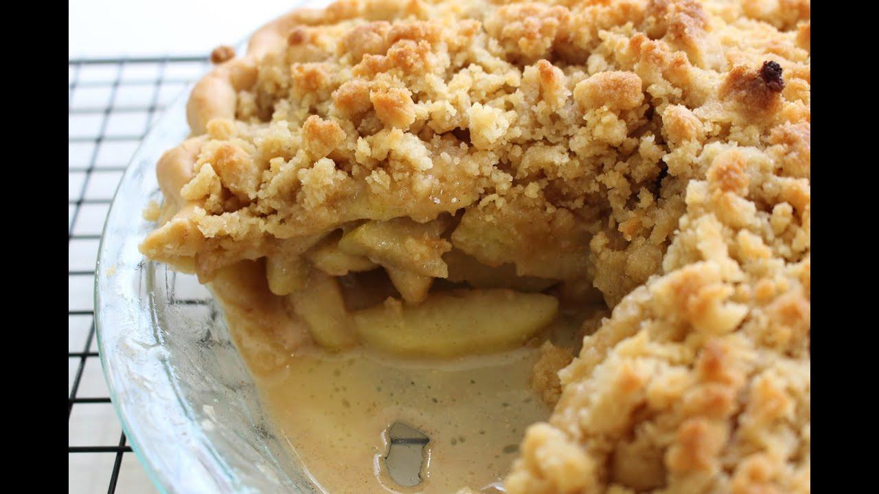 Dutch Apple Pie Crumb Topping  Making a Dutch Apple Pie From Scratch
