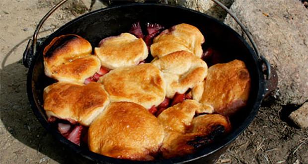 Dutch Oven Dessert Recipes  Dutch Oven Peach and Berry Cobbler Recipe 50 Campfires