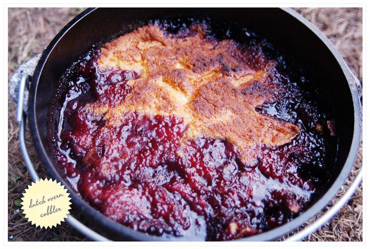Dutch Oven Dessert Recipes  Blackberry Cobbler Camping Ideas Pinterest