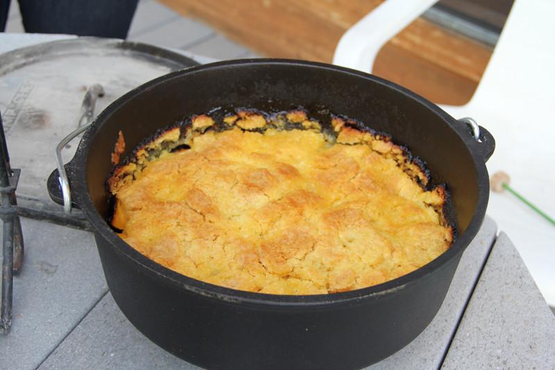 Dutch Oven Dessert Recipes  Lovely Little Snippets Dutchoven Peach Cobbler a recipe