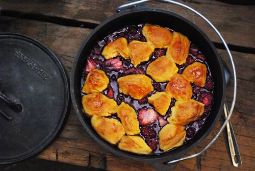 Dutch Oven Dessert Recipes  Mixed Berry Cobbler Dutch Oven Recipe
