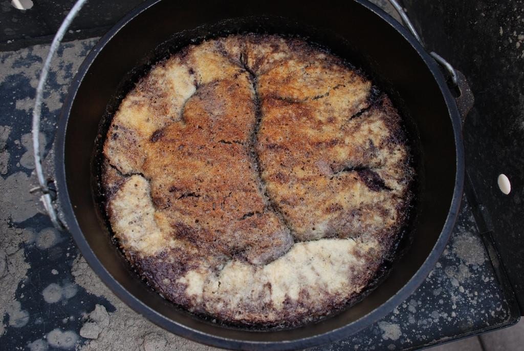 Dutch Oven Dessert Recipes  Blueberry Cobbler