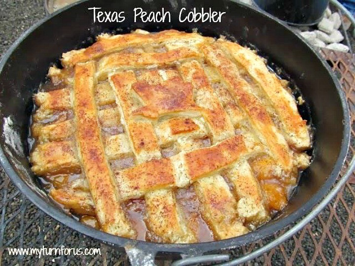 Dutch Oven Dessert Recipes  How to make the best Texas Peach Cobbler My Turn for Us