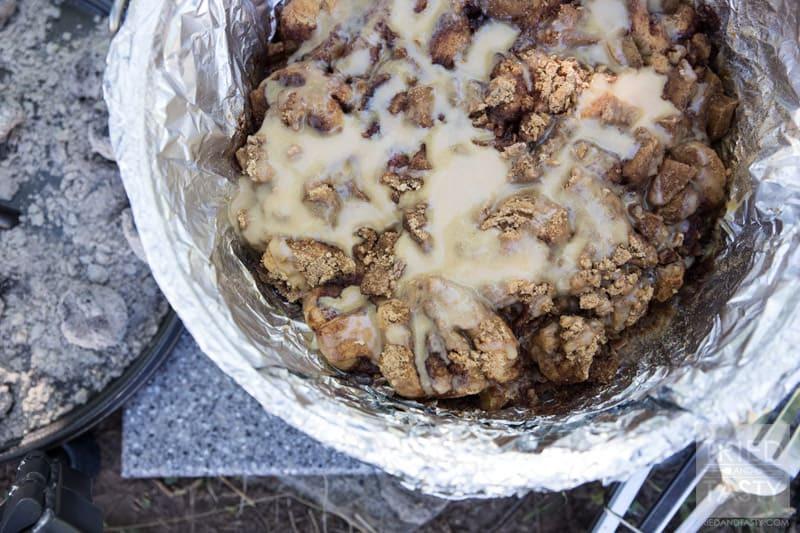 Dutch Oven Dessert Recipes  Dutch Oven Caramel Apple Pie Tried and Tasty