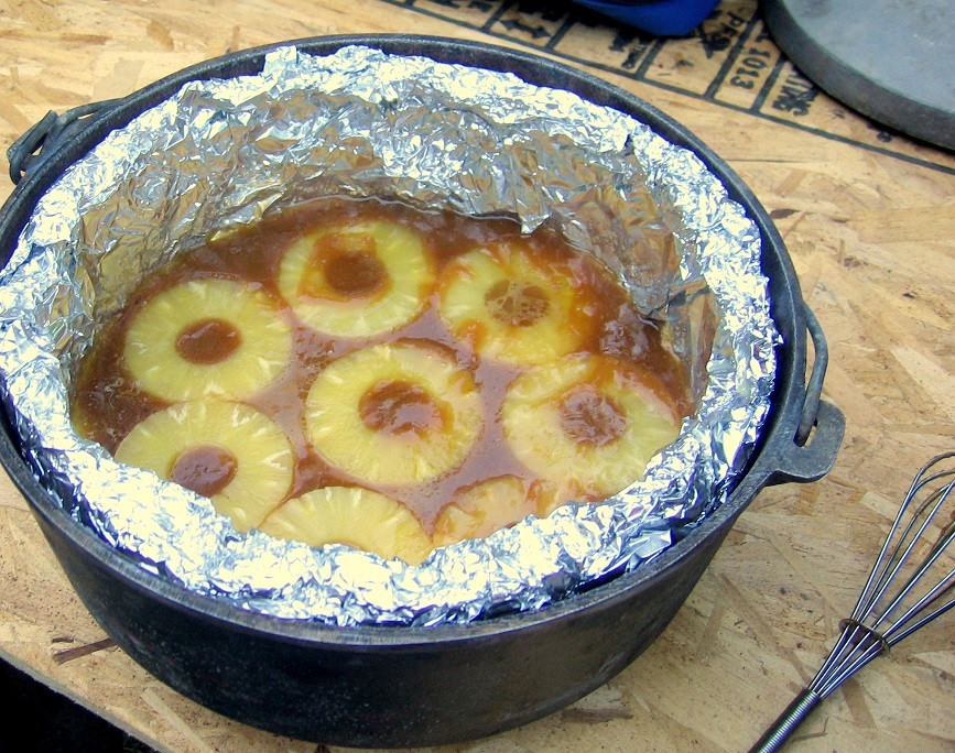 Dutch Oven Desserts Camping  Dutch Oven Pineapple Upside Down Cake