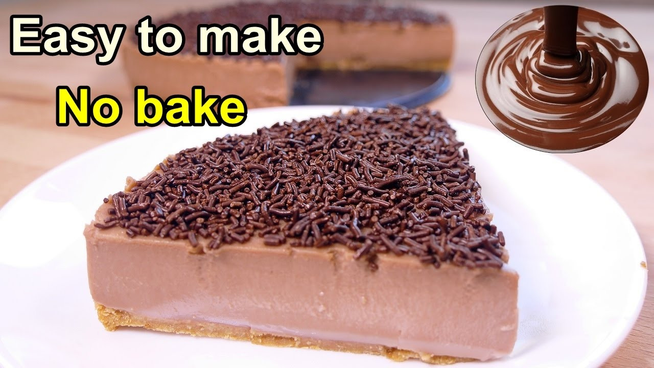 Easiest Desserts To Make  Tasty No bake chocolate cake easy food desserts to make