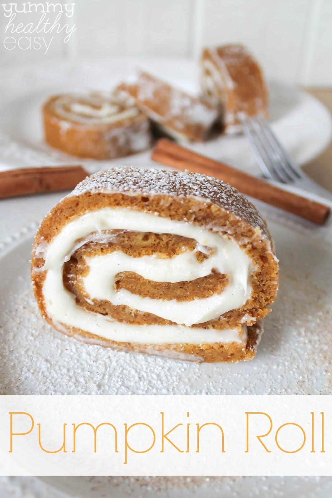 Easiest Desserts To Make  Easy Pumpkin Roll Dessert Yummy Healthy Easy