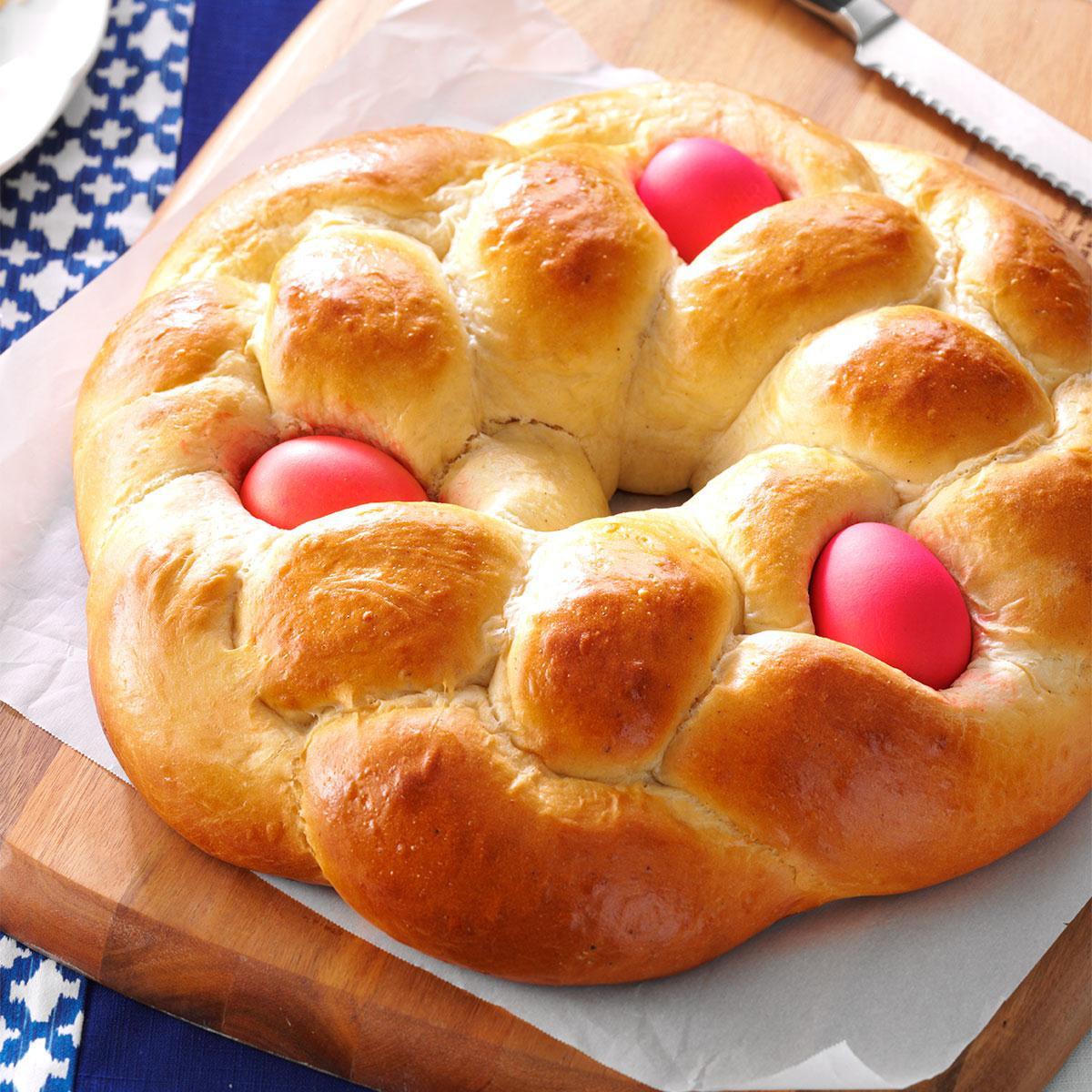 Easter Bread Recipe  Easter Egg Bread Recipe