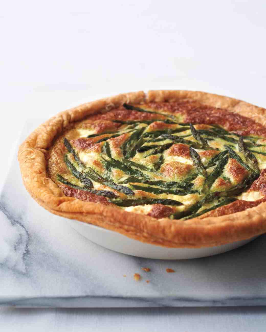 Easter Dinner Ideas Martha Stewart  asparagus custard tart recipe mslo0415