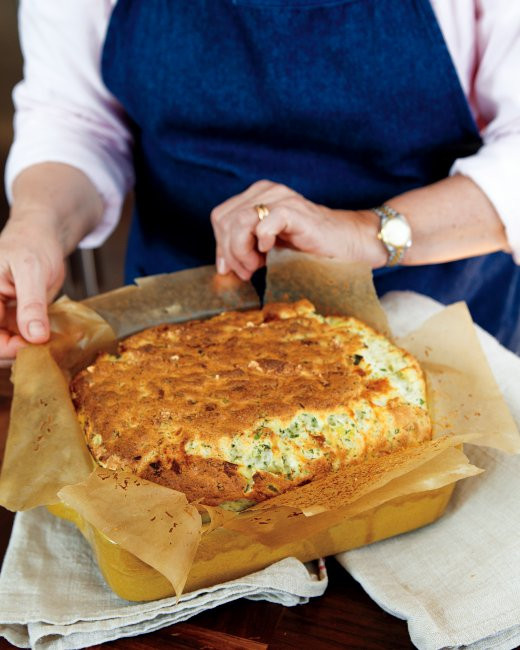 Easter Dinner Ideas Martha Stewart  Cheese Leek and Herb Souffle Casserole Recipe from
