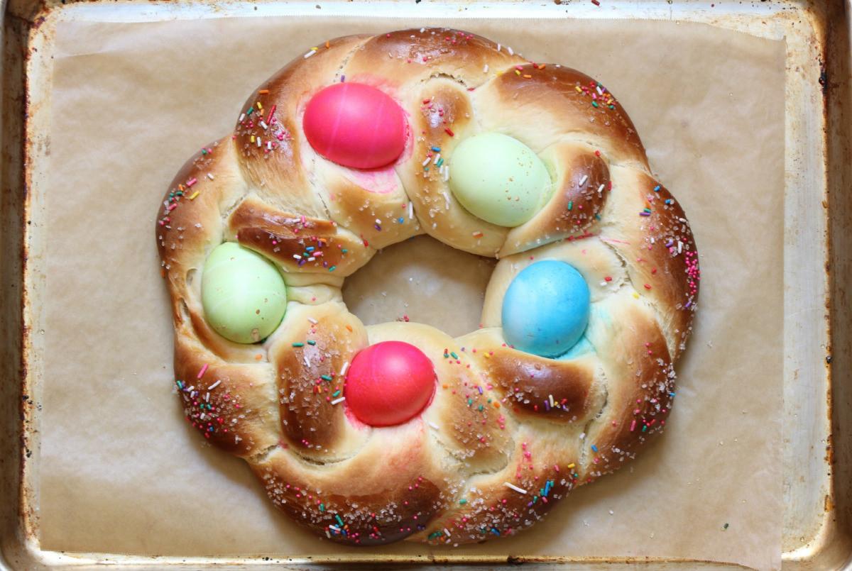 Easter Egg Bread  Braided Easter Egg Bread Recipe — Dishmaps