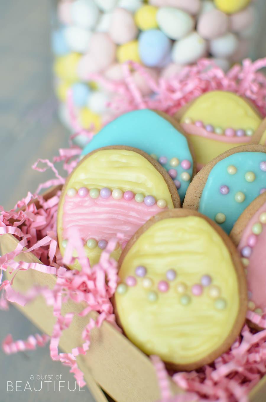 Easter Sugar Cookies  Easter Sugar Cookies A Burst of Beautiful