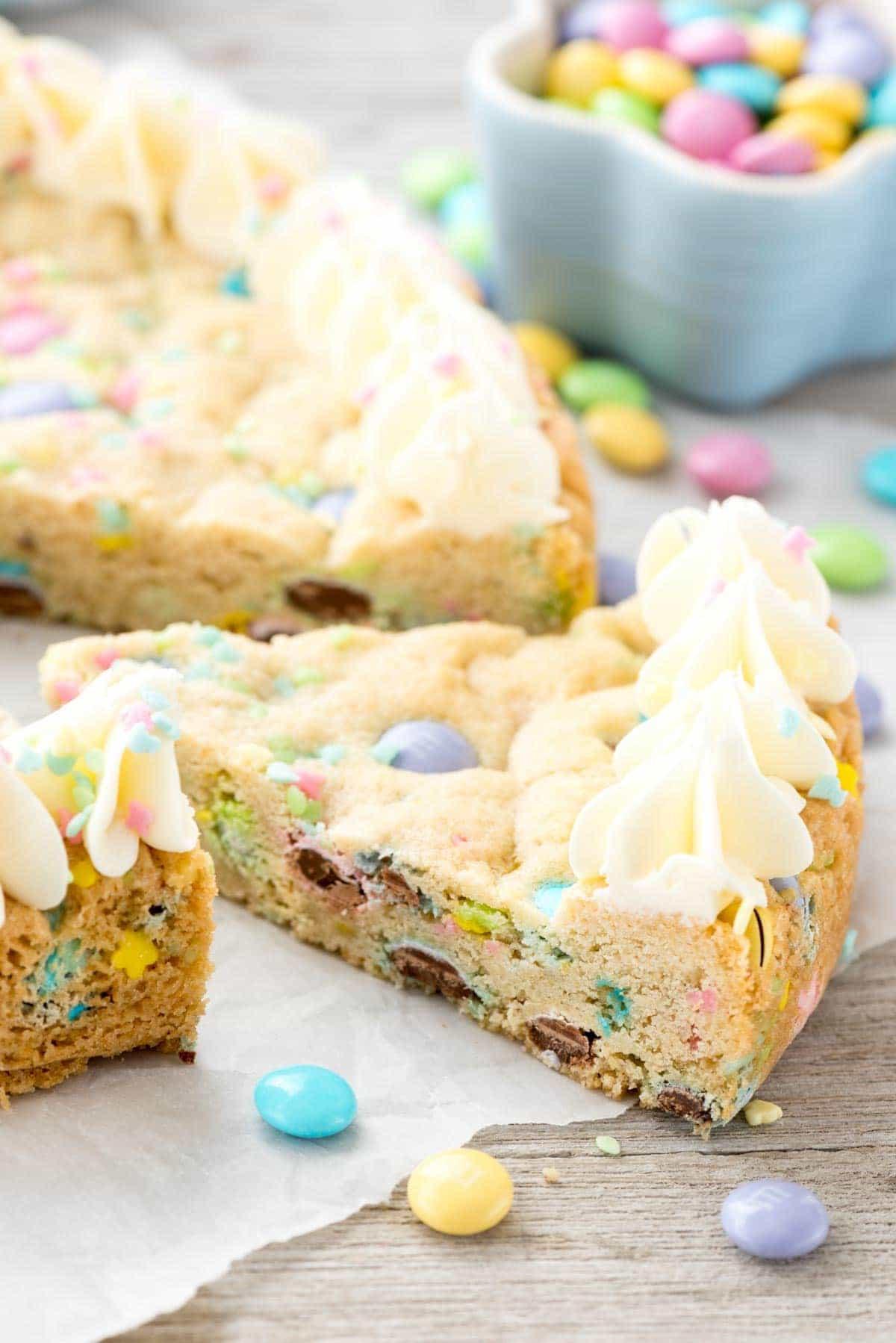 Easter Sugar Cookies  Easter Sugar Cookie Cake Crazy for Crust