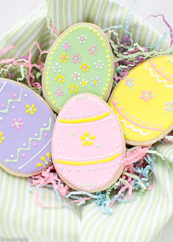 Easter Sugar Cookies  Easter Egg Sugar Cookies With Royal Icing