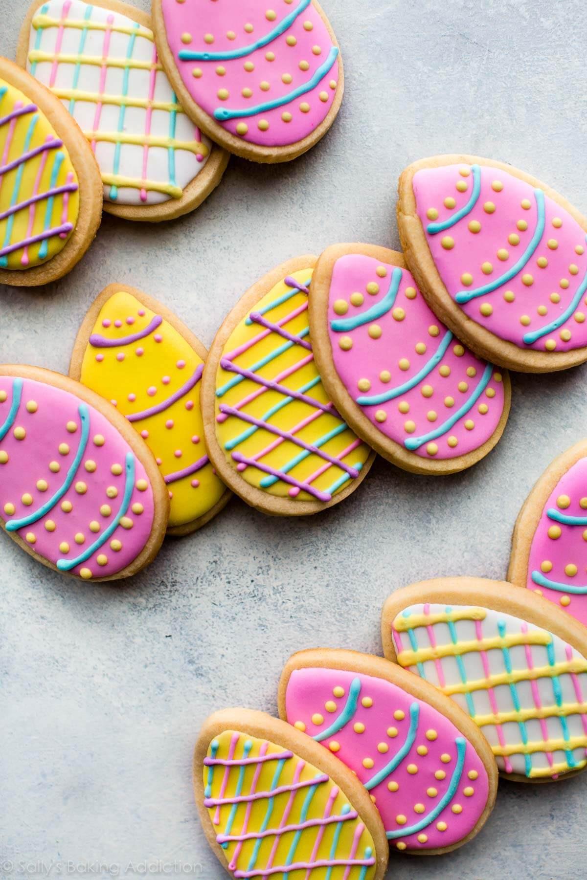 Easter Sugar Cookies  Easter Egg Sugar Cookies Sallys Baking Addiction
