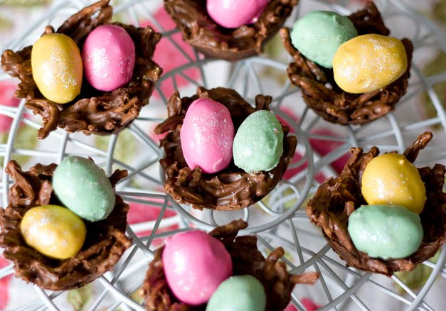 Easter Themed Desserts  Erica s Sweet Tooth Cookie Dough Eggs and Chocolate PB Nests
