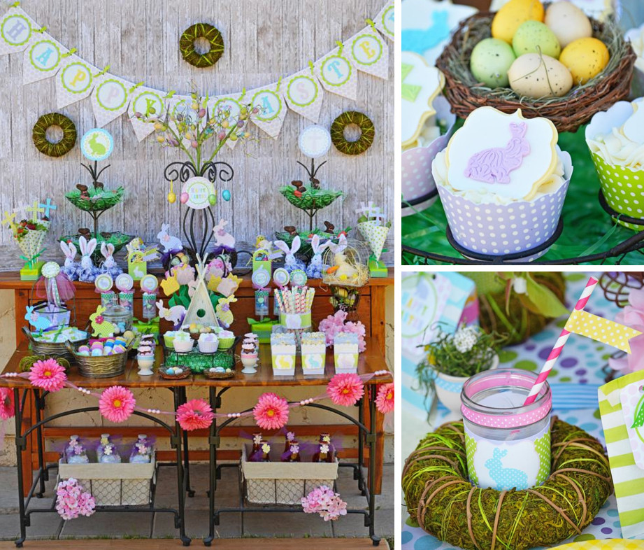Easter Themed Desserts  Kara s Party Ideas Easter Dessert Buffet Party FREE