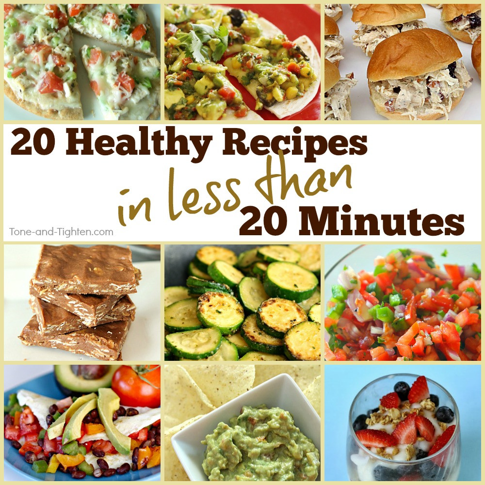 Easy And Healthy Dinner Recipes  20 Healthy Meals In Under 20 Minutes