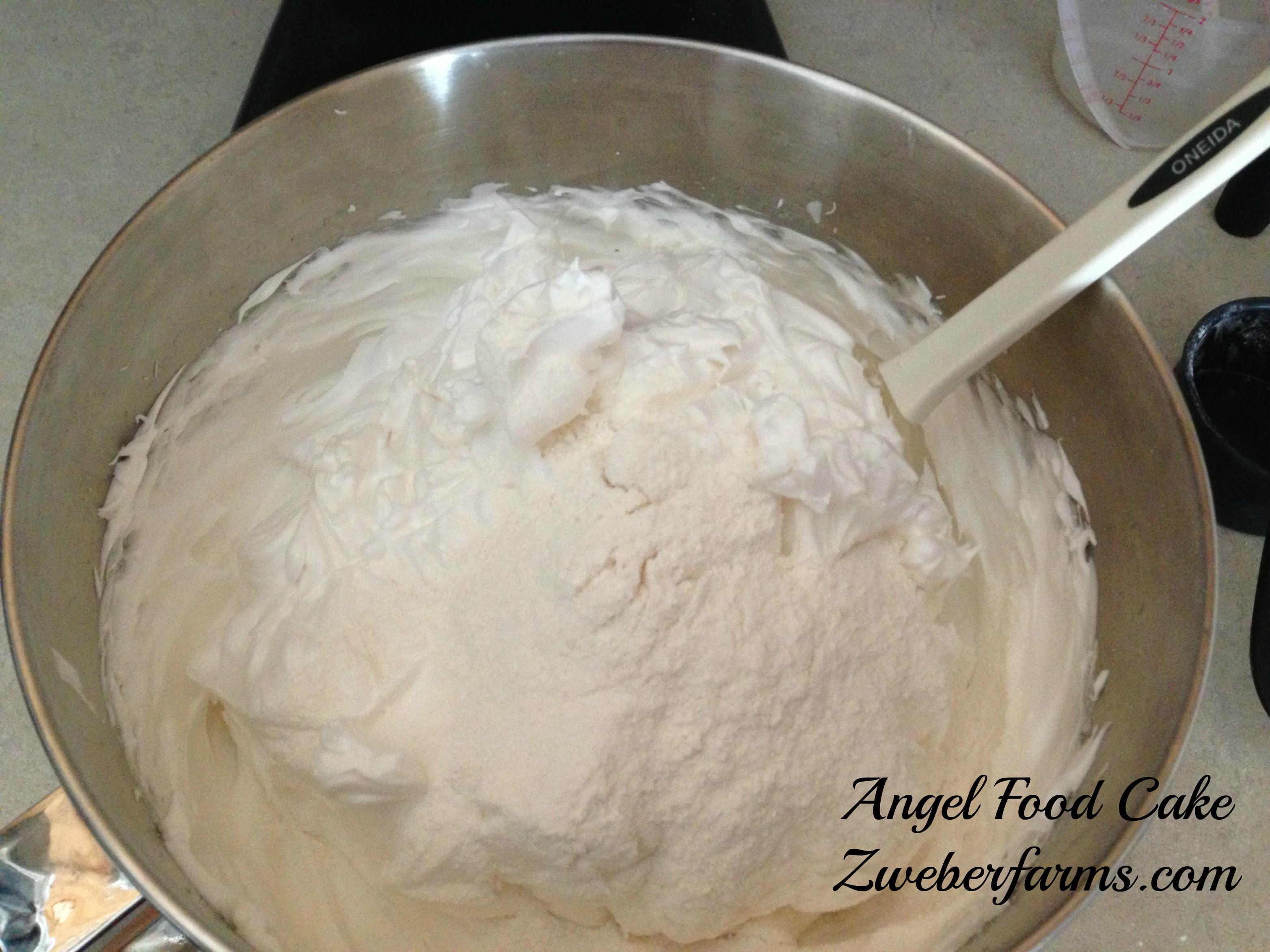 Easy Angel Food Cake Recipe  Easy Angel Food Cake Recipe Zweber Family Farms