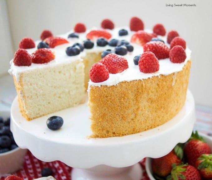 Easy Angel Food Cake Recipe  Incredibly Delicious Sugar Free Angel Food Cake Living