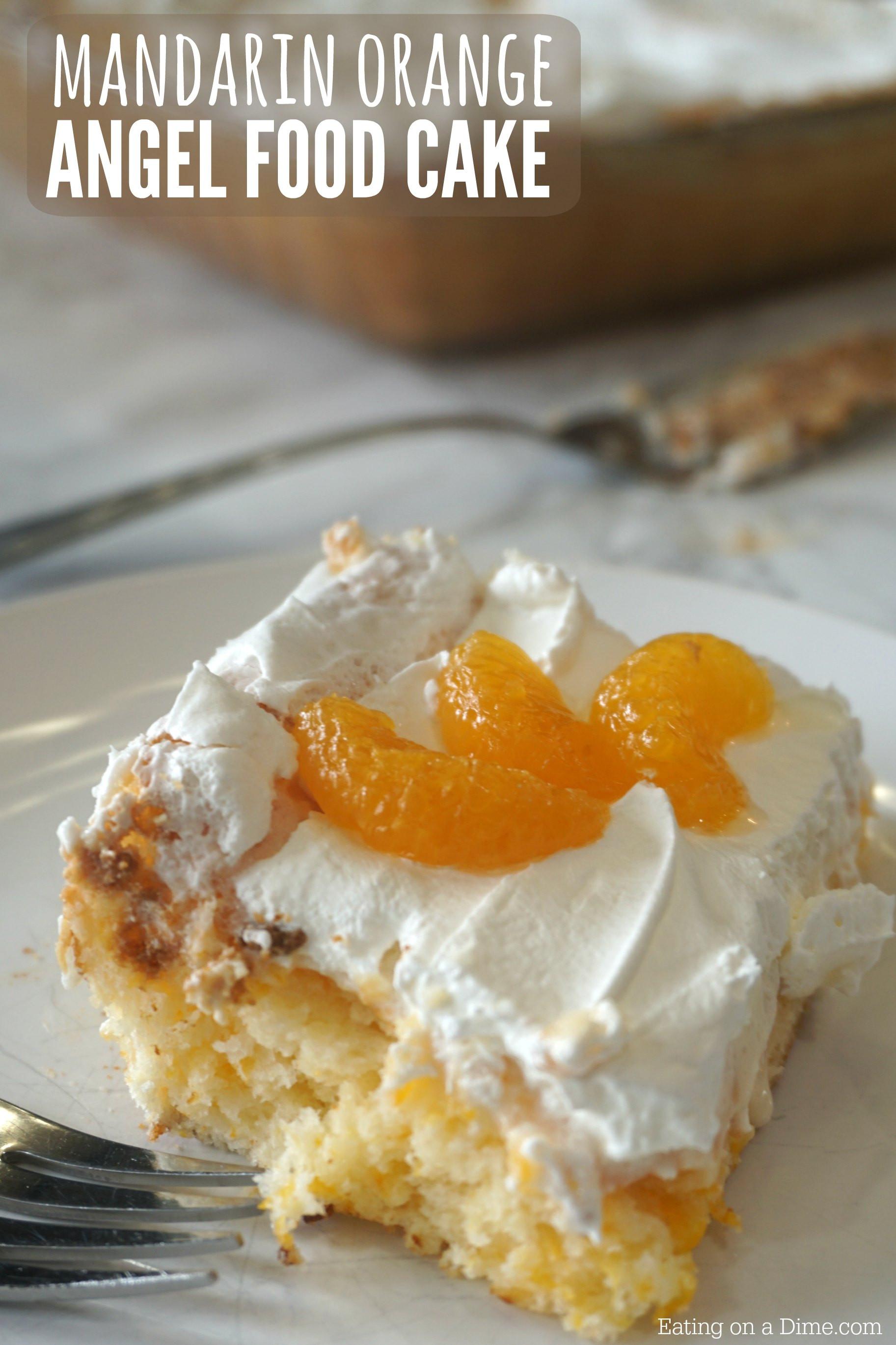 Easy Angel Food Cake Recipe  mandarin orange angel food cake recipe Easy Angel Food