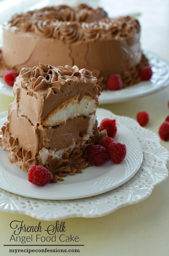 Easy Angel Food Cake Recipe  French Silk Angel Food Cake My Recipe Confessions